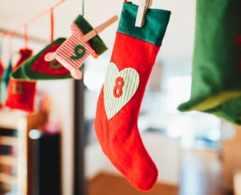 Calendrier de l'avent - Bas de Noël