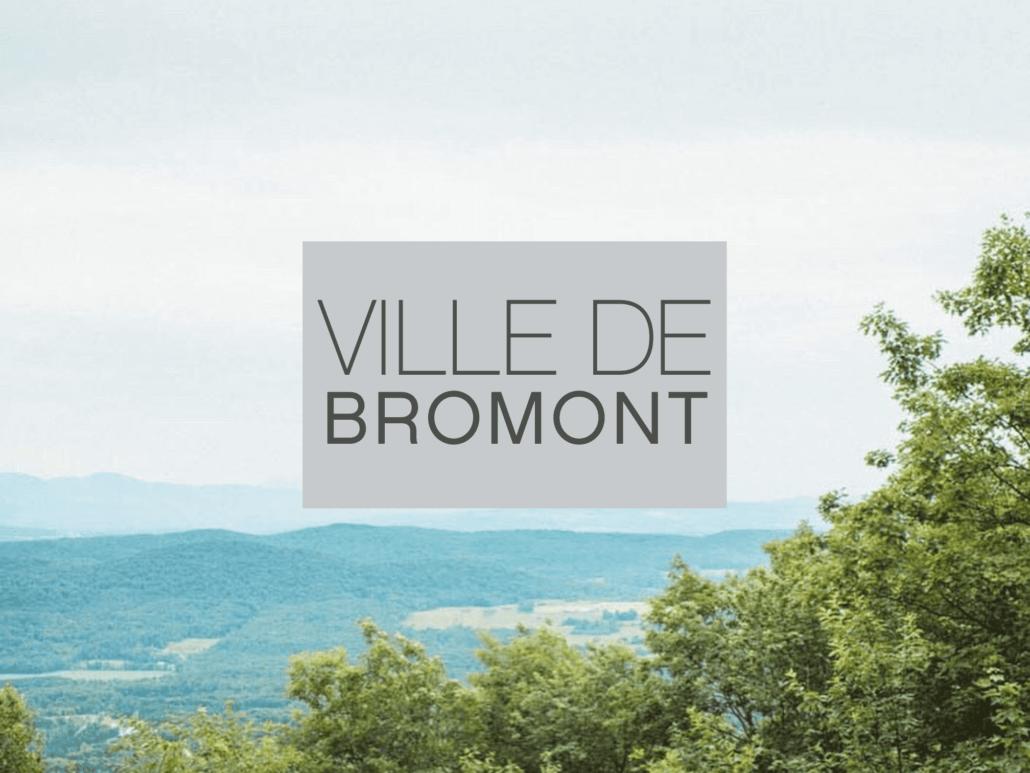 Vu de la montagne à Bromont