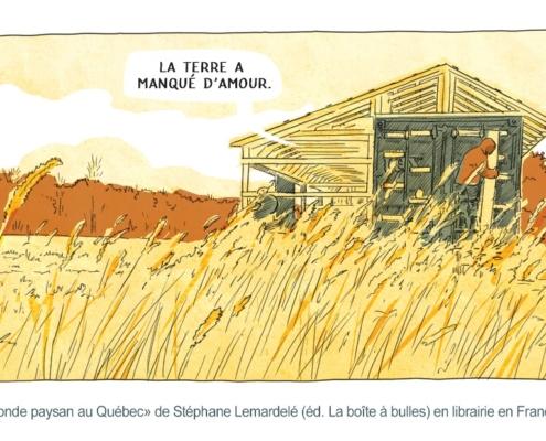 """Paysan devant son installation dans un champ disant que «la terre a manqué d""""amour»"""