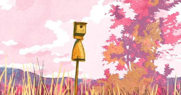 Illustration de nichoirs à oiseaux